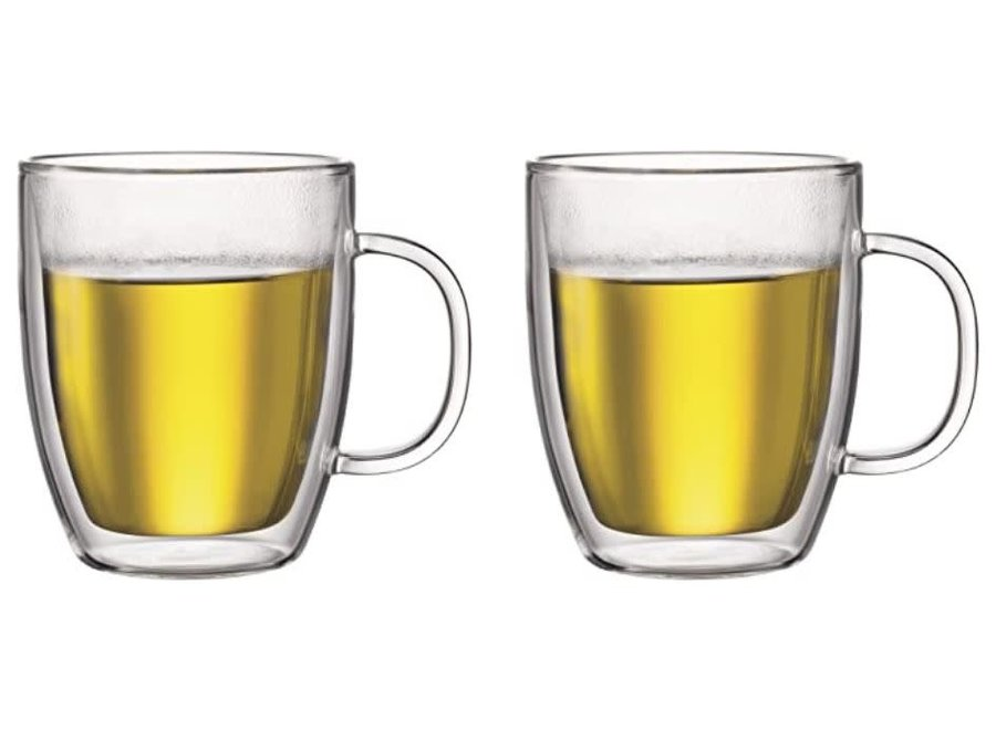 Bistro 2 pcs jumbo mug, double wall, 0.45 l, 15 oz