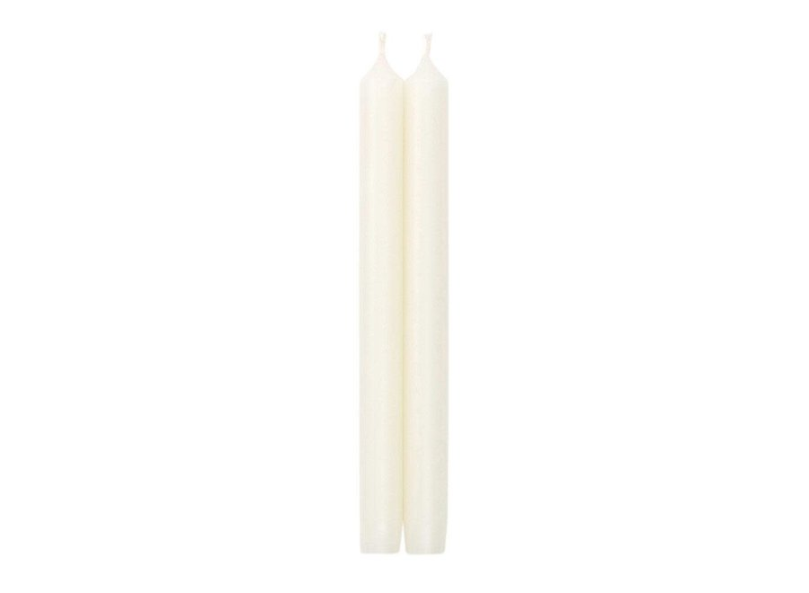 "Straight Taper 10"" Candles in White - 2 Candles Per Package"
