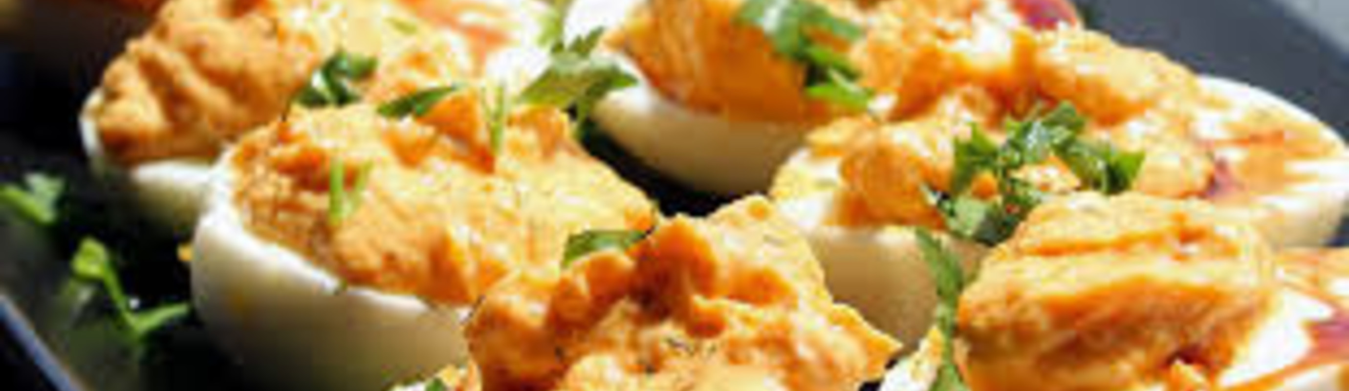 Rose Harissa Deviled Eggs