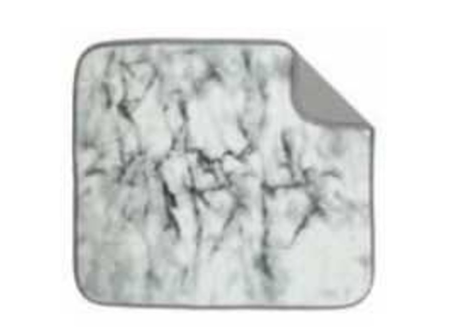 """Envision Home Marble Dish Drying Mat 16""""x18"""" Absorbent Microfiber Durable"""