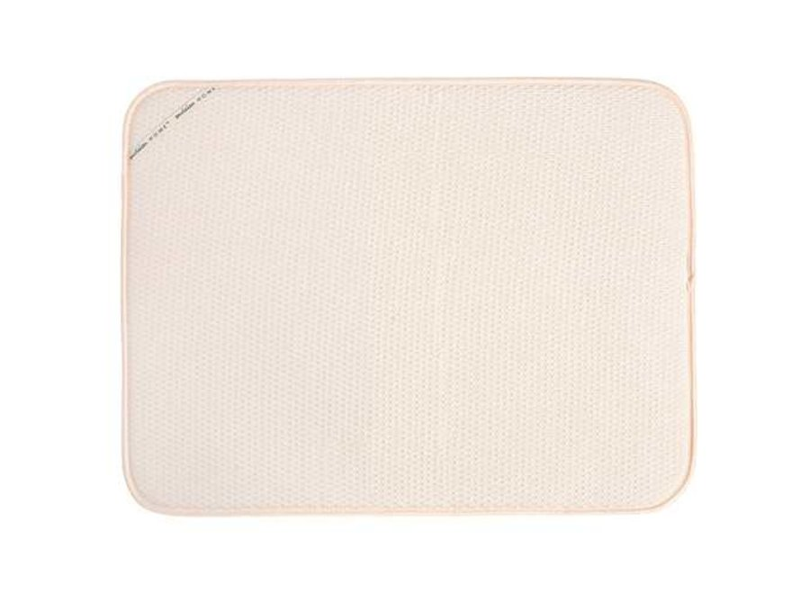 """Envision Home Cream Dish Drying Mat 18"""" x 24 """" Absorbant Microfiber Durable"""