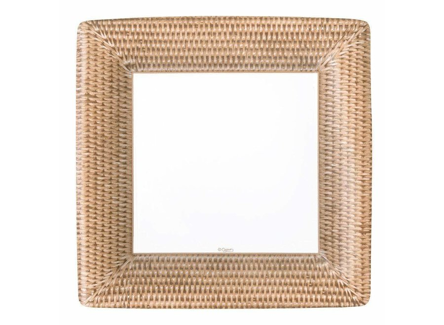 Rattan Paper Dinner Plates - 8 Per Package