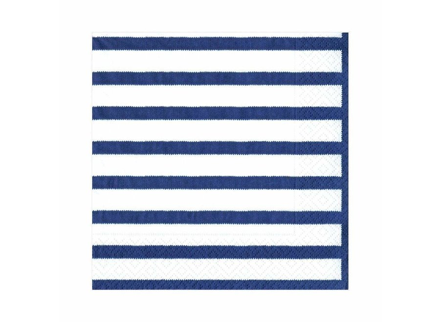 Bretagne Paper Luncheon Napkins in Blue - 20 Per Package