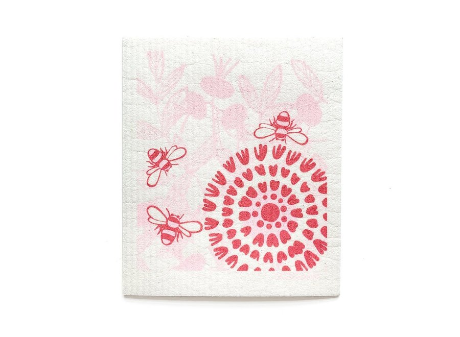 Swedish Dishtowel Bloom in Pink