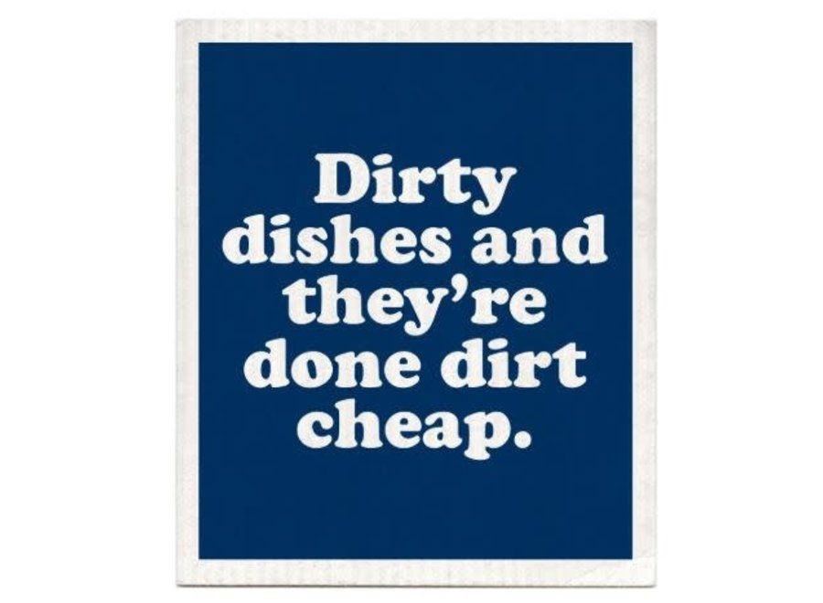 Dirty Dishes Dishcloth