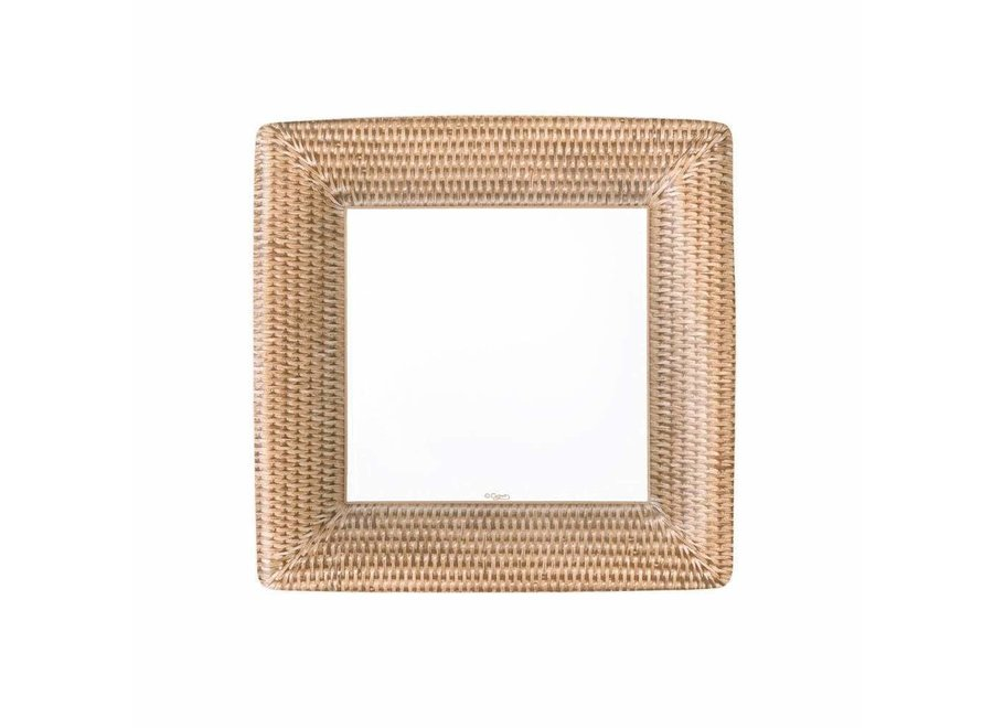 Rattan Square Paper Salad & Dessert Plates - 8 Per Package