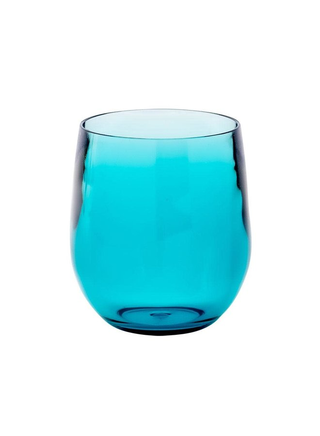 Acrylic 12oz Tumbler Glass in Turquoise - 1 Each