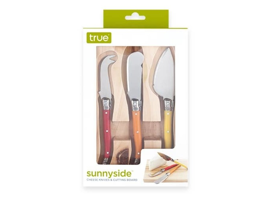 SunnySide: Cheese Knives & Cutting Board