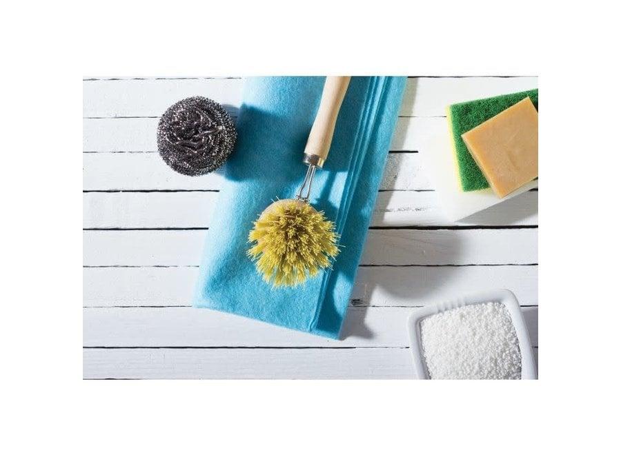 Natural Bristle Vegetable and Dish Brush