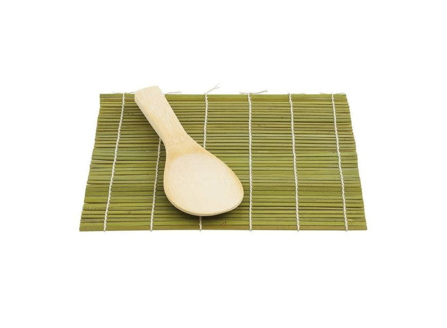 Sushi Mat with Rice Paddle