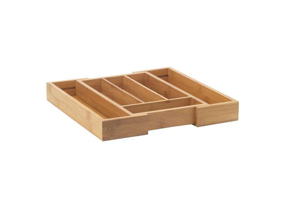 Bamboo Silverware Tray