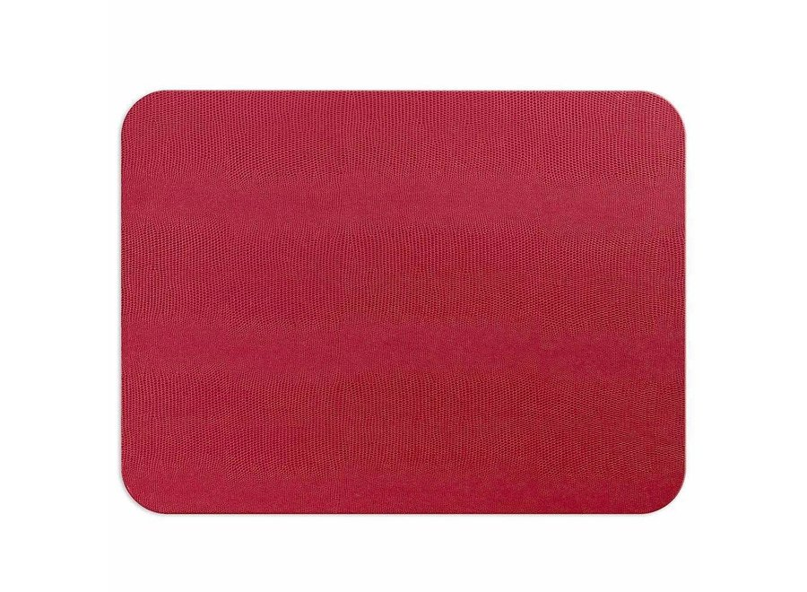 Lizard Felt-Backed Placemat in Cranberry - 1 Each