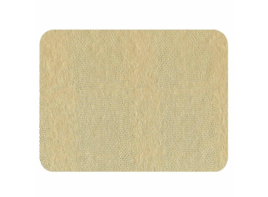 Lizard Felt-Backed Placemat in Ivory - 1 Each