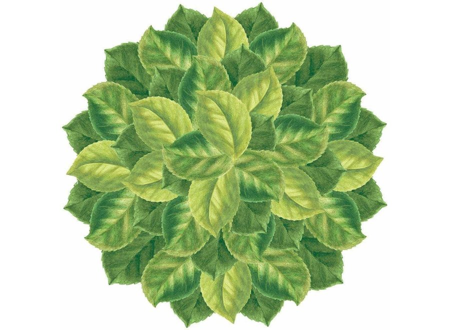 Camellia Leaves Die-Cut Placemat - 1 Per Package