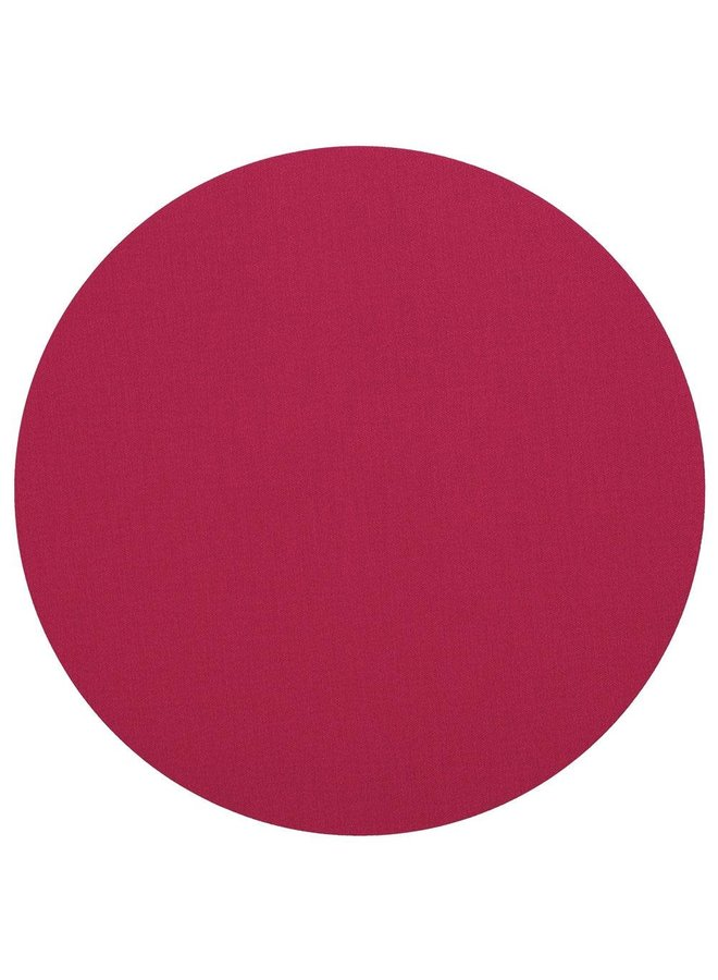 Classic Canvas Round Felt-Backed Placemat in Fuchsia - 1 Each