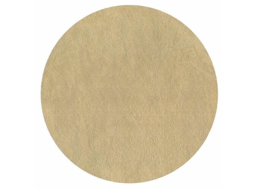 Leather Felt-Backed Placemat in Gold - 1 Each