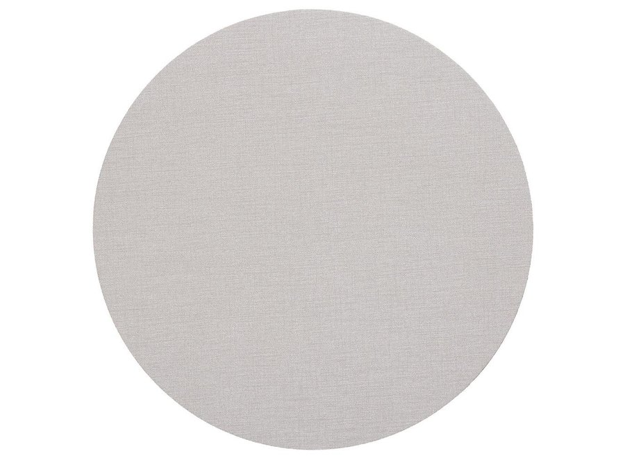 Classic Canvas Round Felt-Backed Placemat in Linen - 1 Each