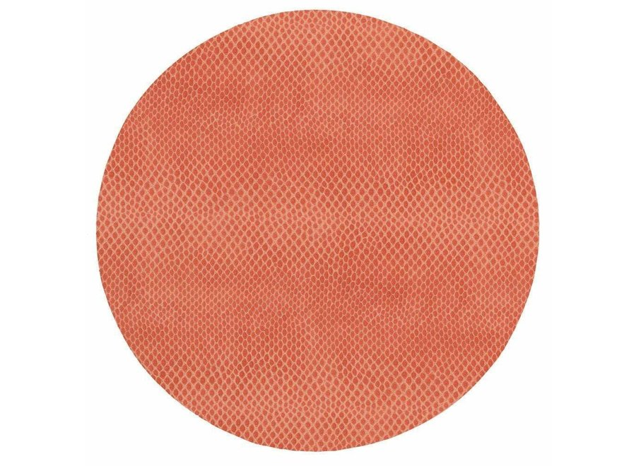 Snakeskin Felt-Backed Placemat in Coral - 1 Each