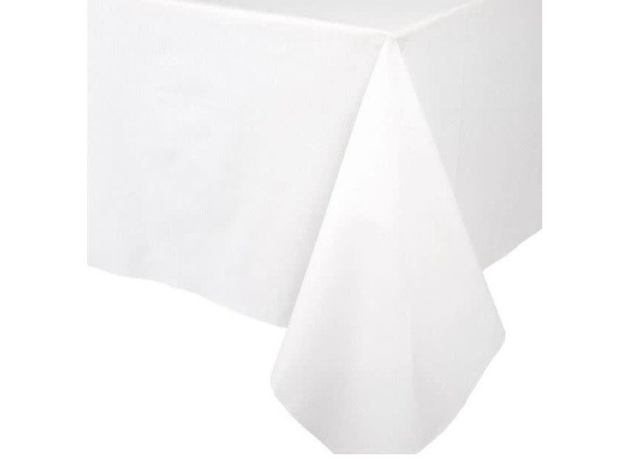 Paper Linen Solid Table Cover in White - 1 Each