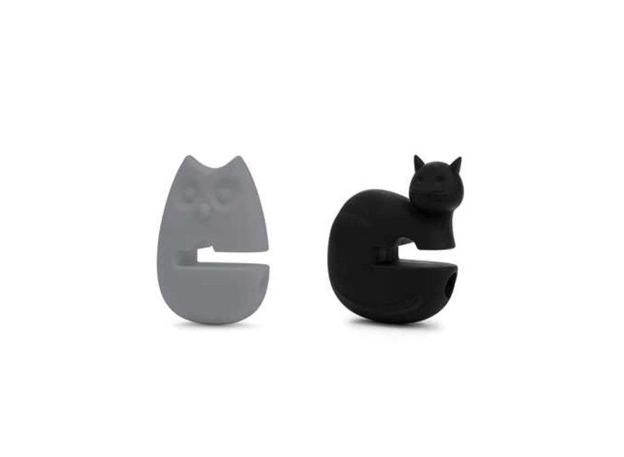 Cat and Owl Pot Clip
