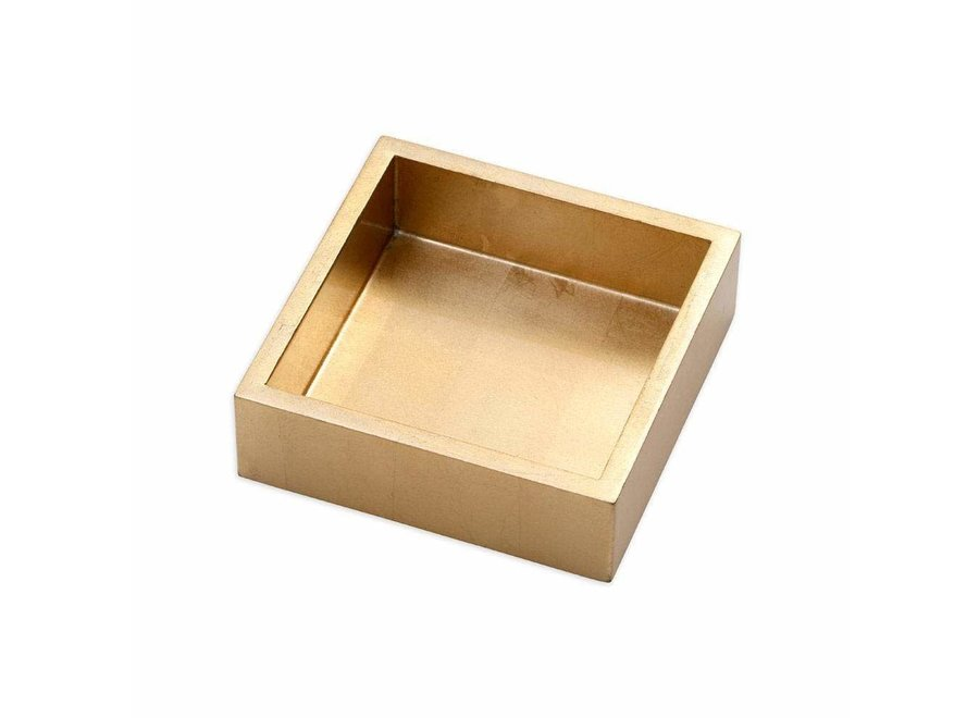 Lacquer Cocktail Napkin Holder in Gold - 1 Each