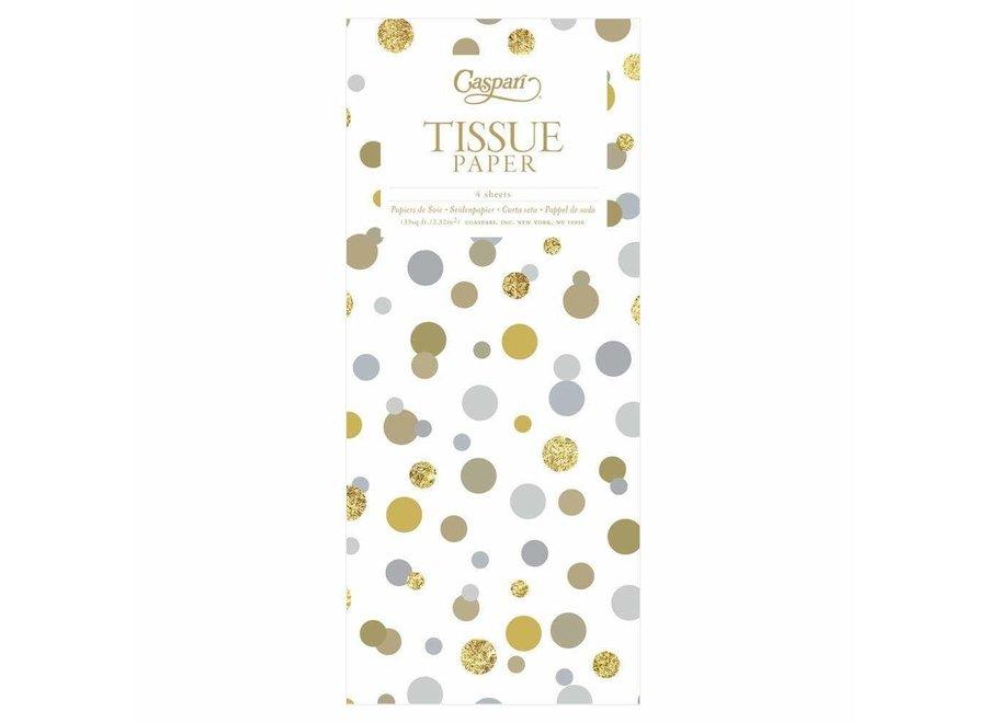Confetti Metallics Tissue Paper - 4 Sheets Included