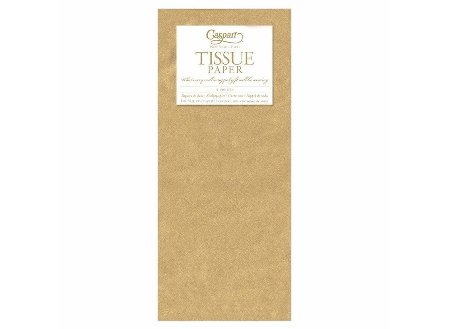 Solid Tissue Paper in Gold - 4 Sheets Included
