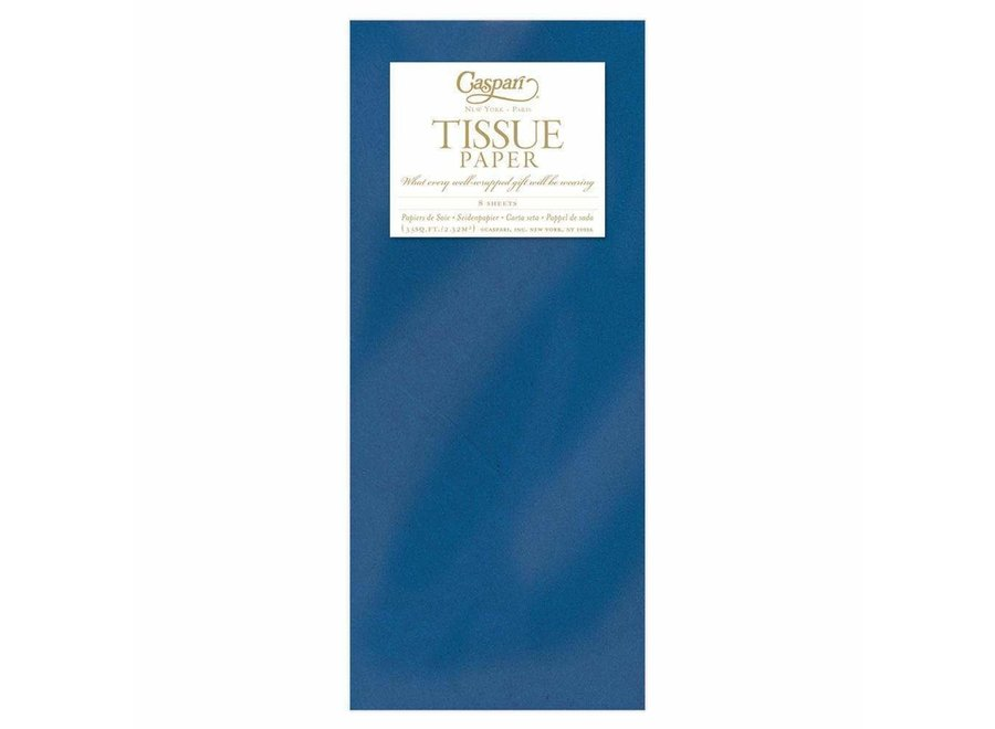 Solid Tissue Paper in Marine Blue - 8 Sheets Included
