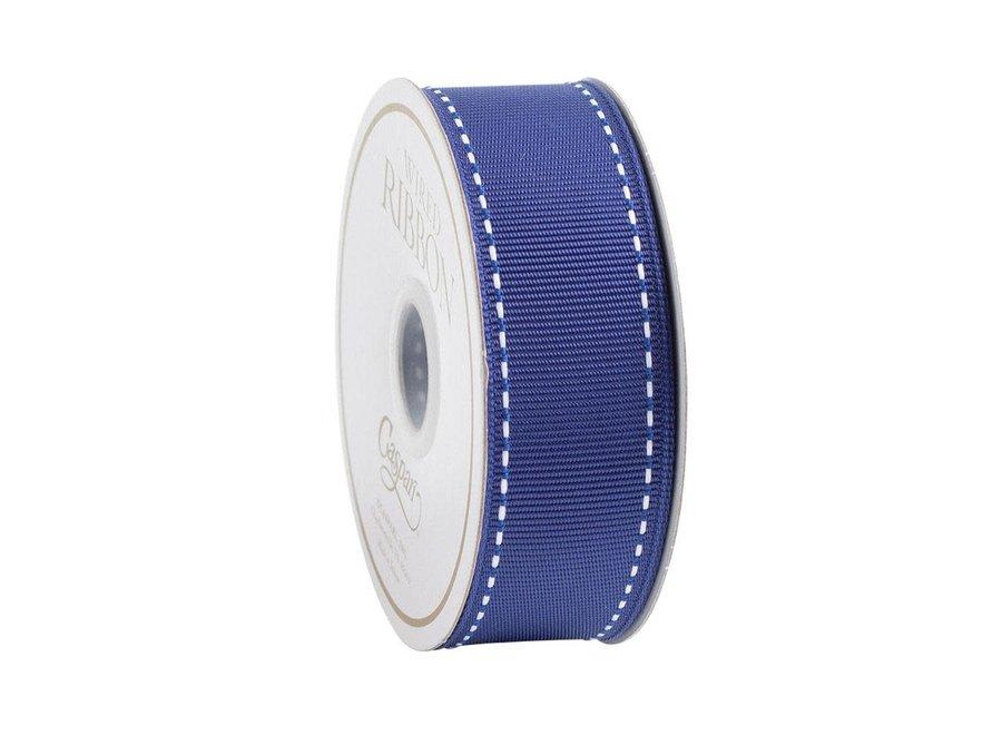 Marine Blue & White Grosgrain Ribbon - 9 Yard Spool