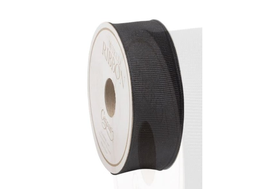 Narrow Black Grosgrain Ribbon - 8 Yard Spool