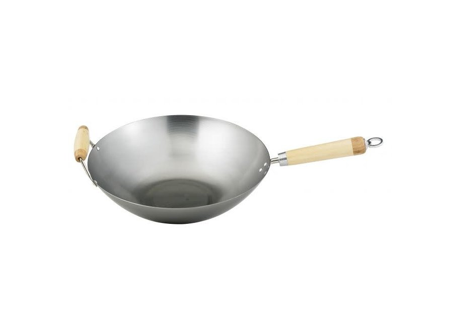 "Helen's Asian Kitchen Carbon Steel Wok 14"""