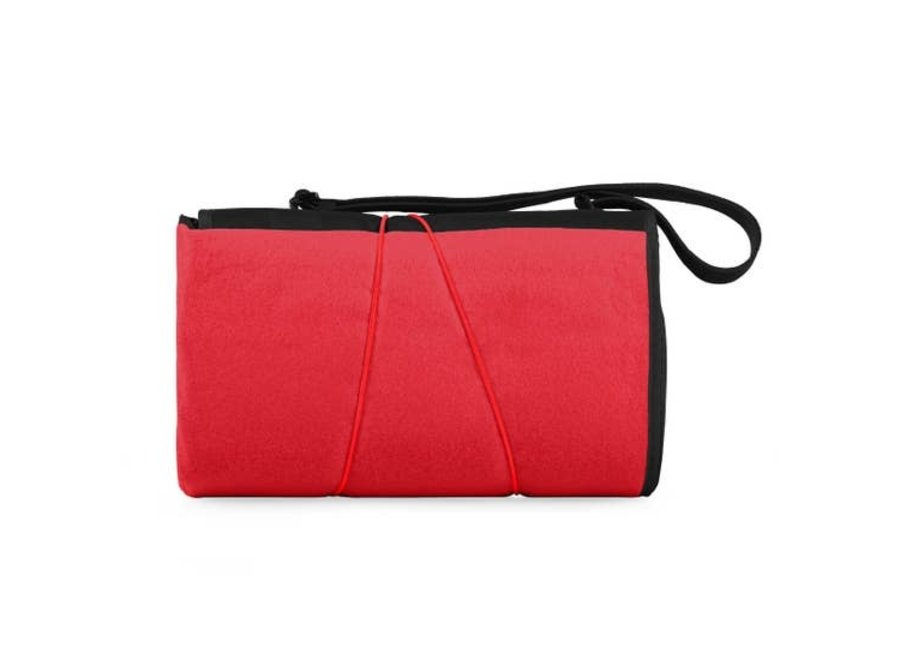 Blanket Tote Outdoor Picnic Blanket - Red with Black Flap