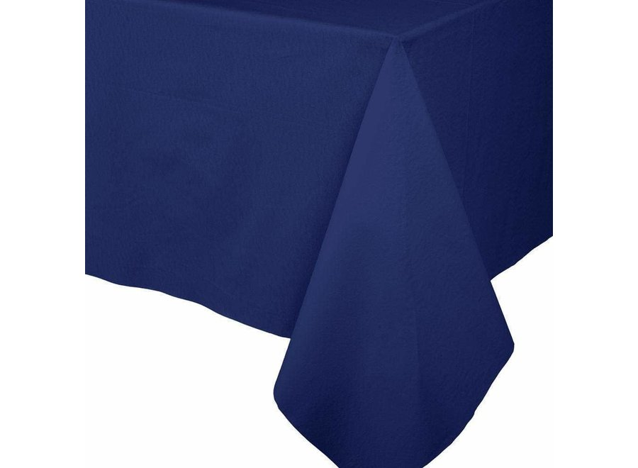Paper Linen Solid Table Cover in Navy Blue - 1 Each