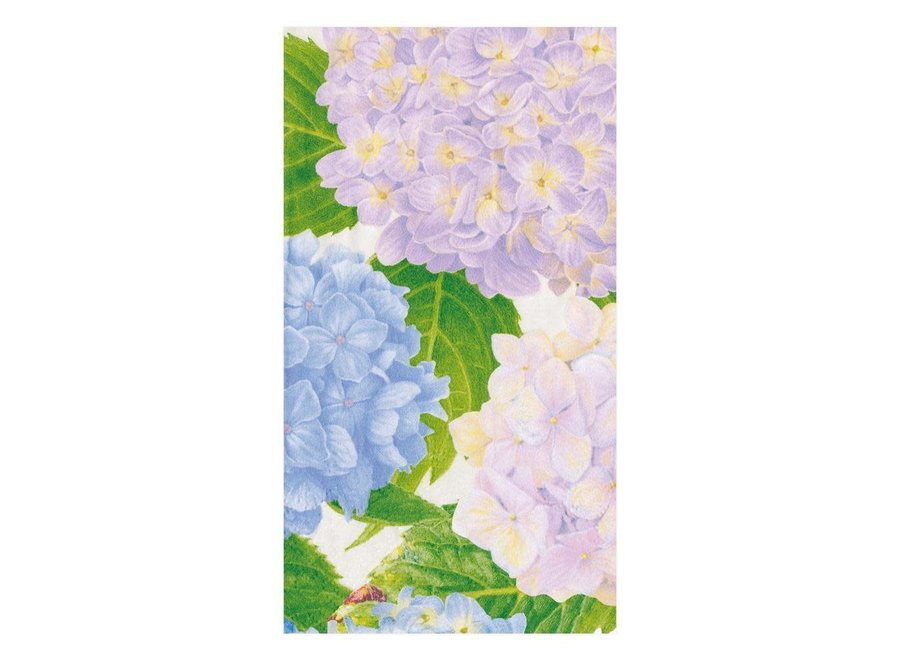 Hydrangea Garden Paper Guest Towel Napkins in Lavender - 15 Per Package