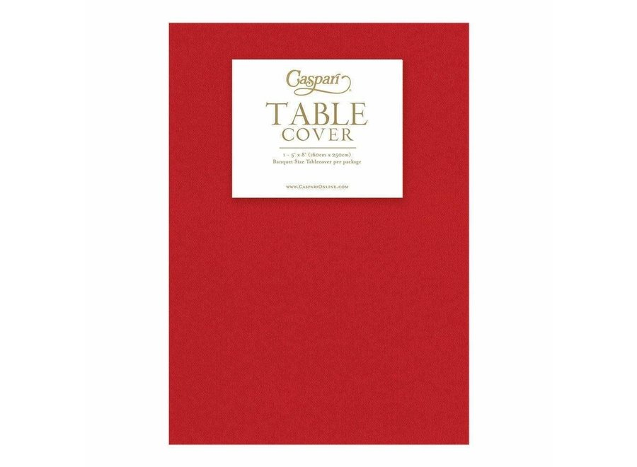 Paper Linen Solid Table Cover in Red - 1 Each