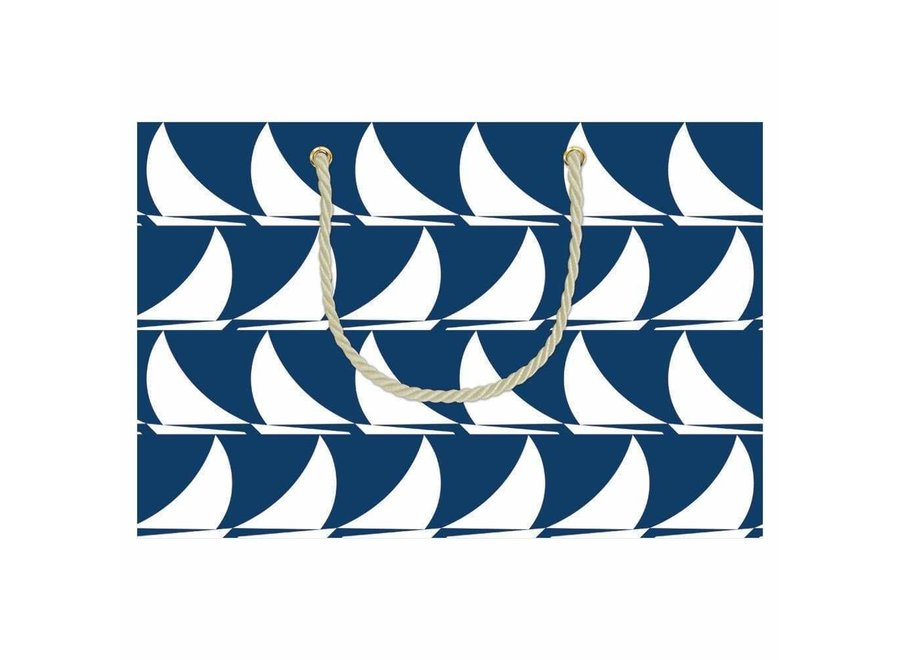 Sail Away Medium Gift Bag in Navy - 1 Each