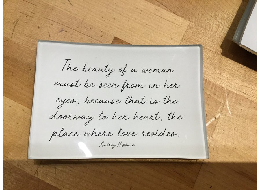 "The beauty of a woman 3"" x 5"" Decoupage Plate"