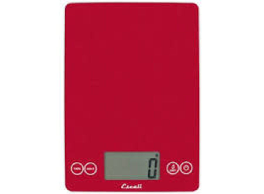 Metallic Arti Rio Red Glass Digital Kitchen Scale