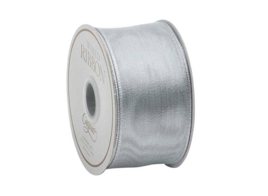 Sheer Silver Wired Ribbon - 9 Yard Spool