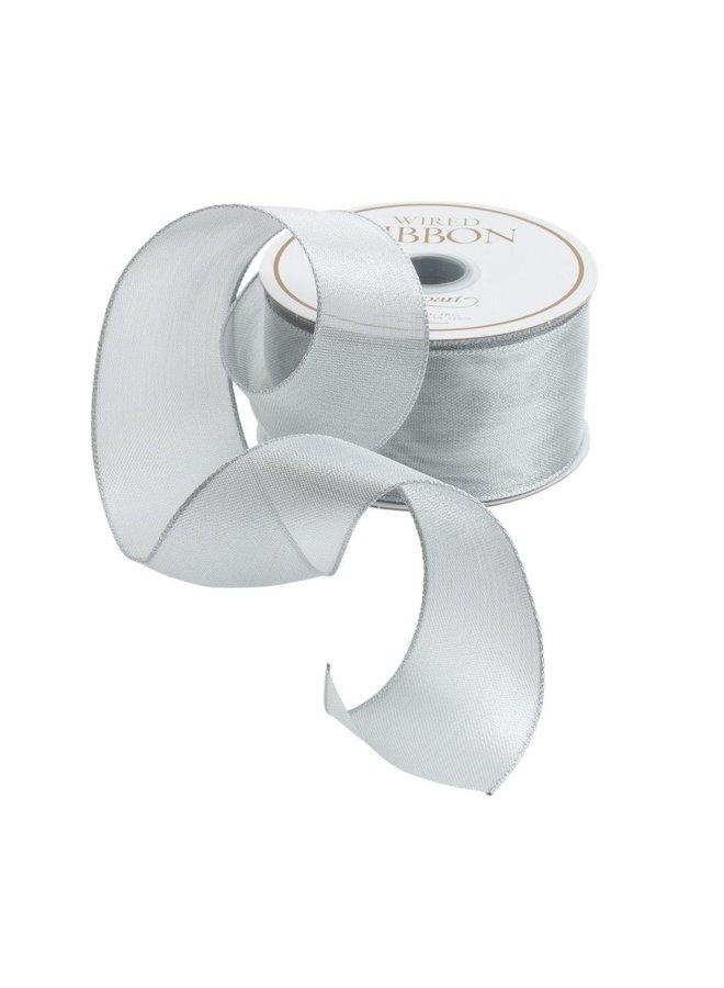 Sheer Silver Wired Ribbon - 9 Yard Spool