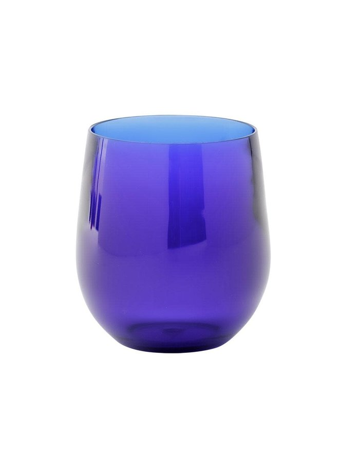 Acrylic 12oz Tumbler Glass in Cobalt - 1 Each