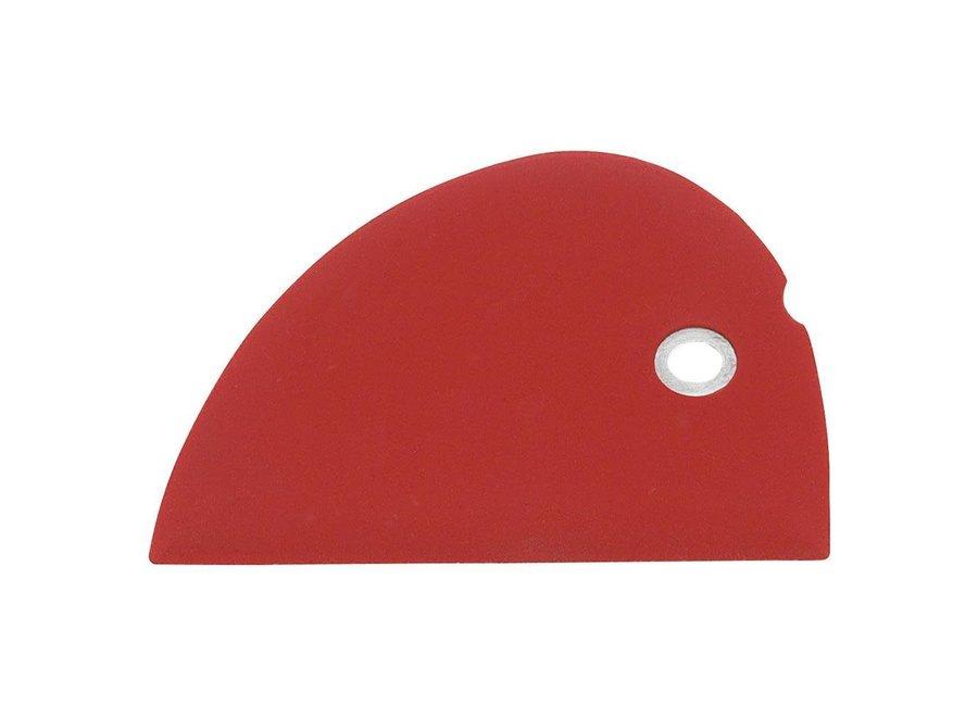 Silicone Bowl Scraper - Red