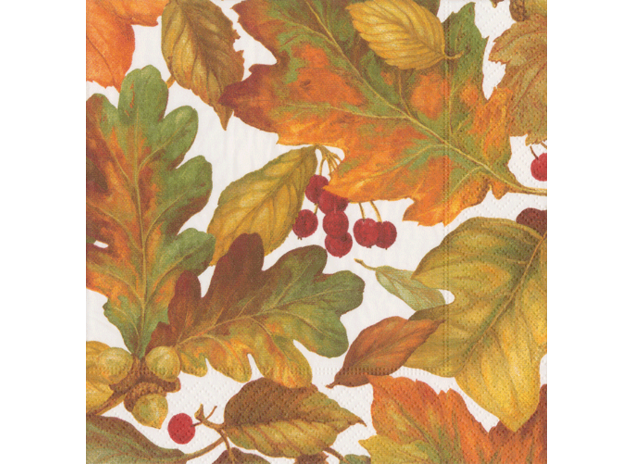 Autumn Leaves 2 Paper Luncheon Napkins - 20 Per Package