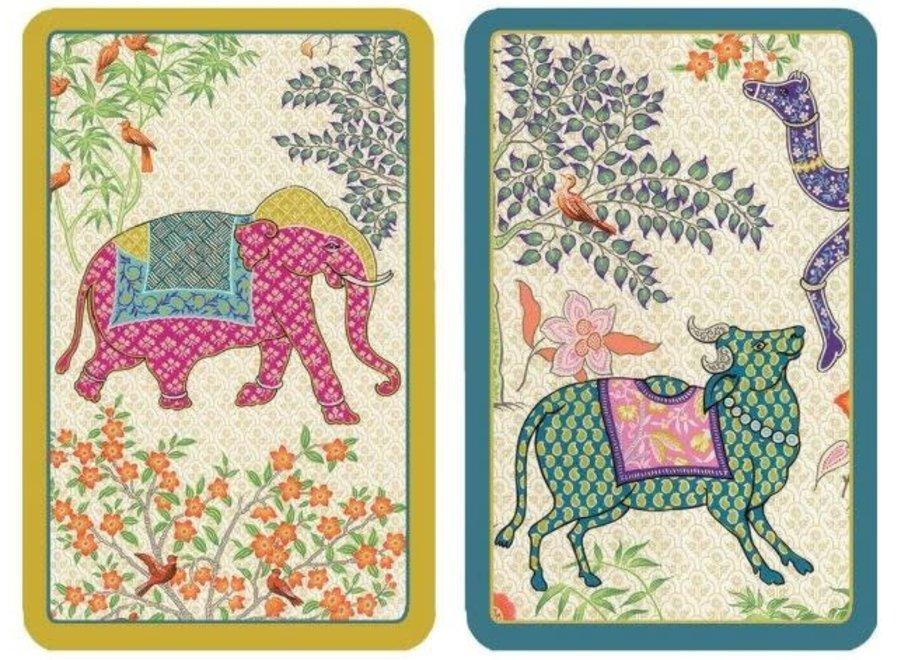 Le Jardin De Mysore Large Type Playing Cards - 2 Decks Included