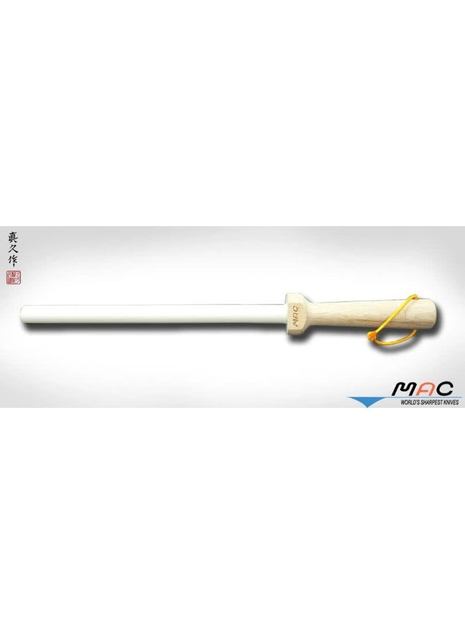 "8.5"" White Ceramic Honing Rod"