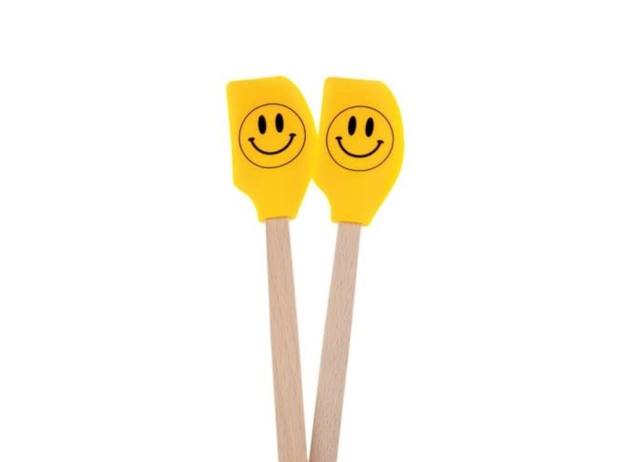 Smiley Face Set of 2 Mini Spatulas