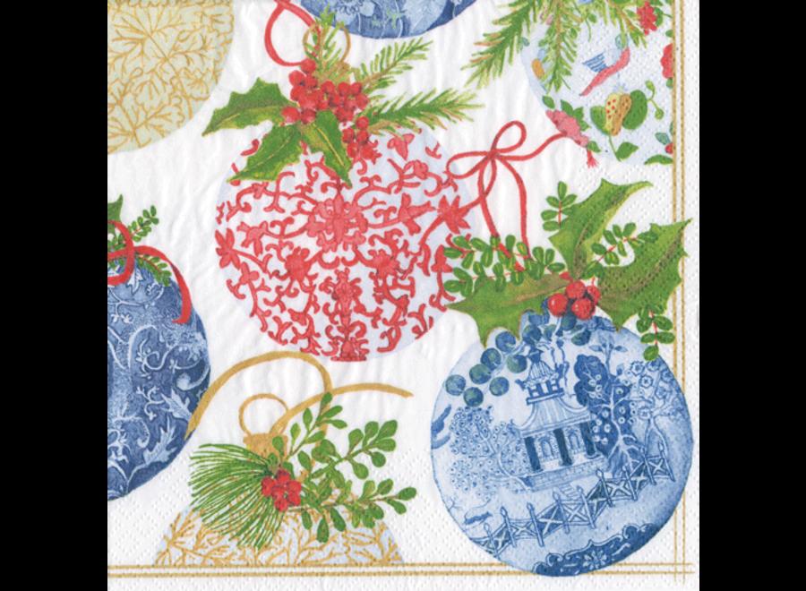 Porcelain Ornament Paper Cocktail Napkins - 20 Per Package