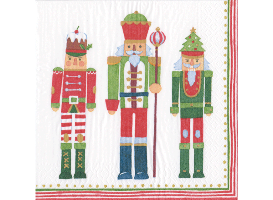 March of the Nutcrackers Paper Cocktail Napkins - 20 Per Package