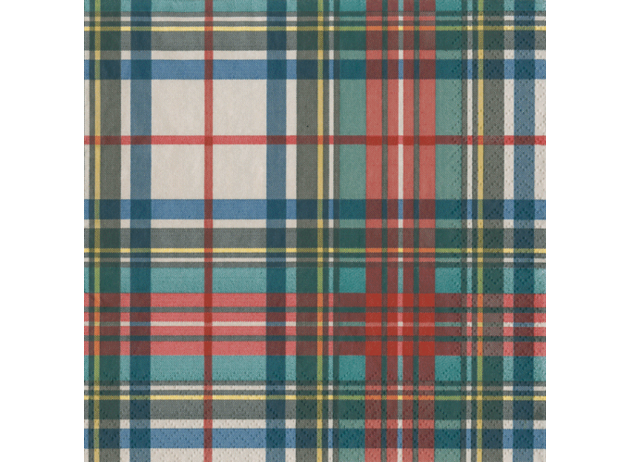 Dress Stewart Tartan Paper Cocktail Napkins - 20 Per Package