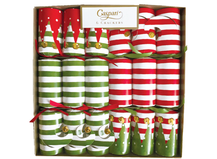 Stocking Stripe Christmas Crackers 6 Count 12.5 Inch Long